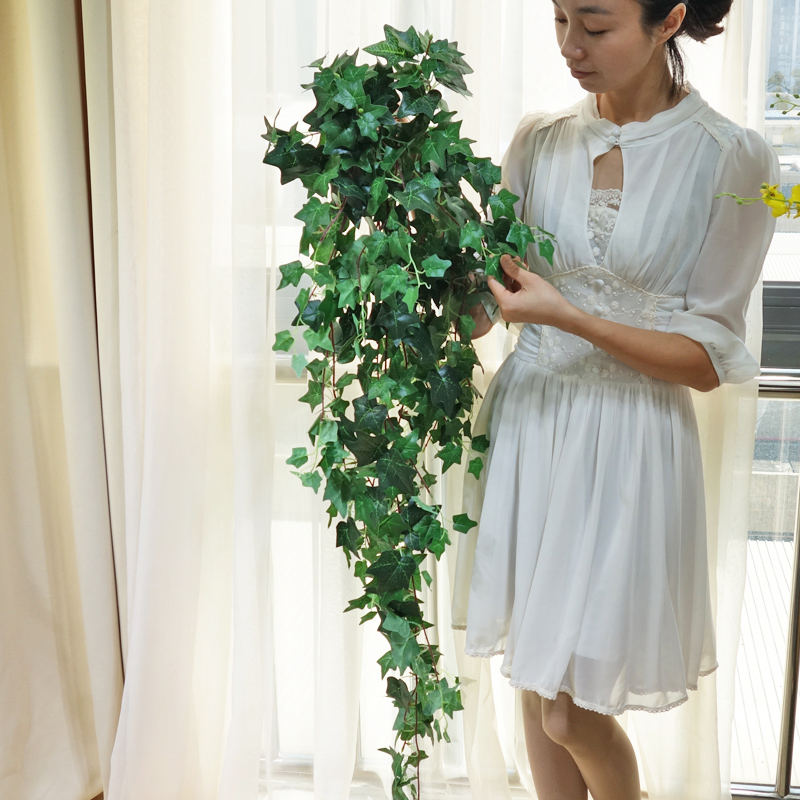flower wall Artificial Fake Hanging Vine green Plant Leave Garland Decoration vine artificial flowers for the balcony