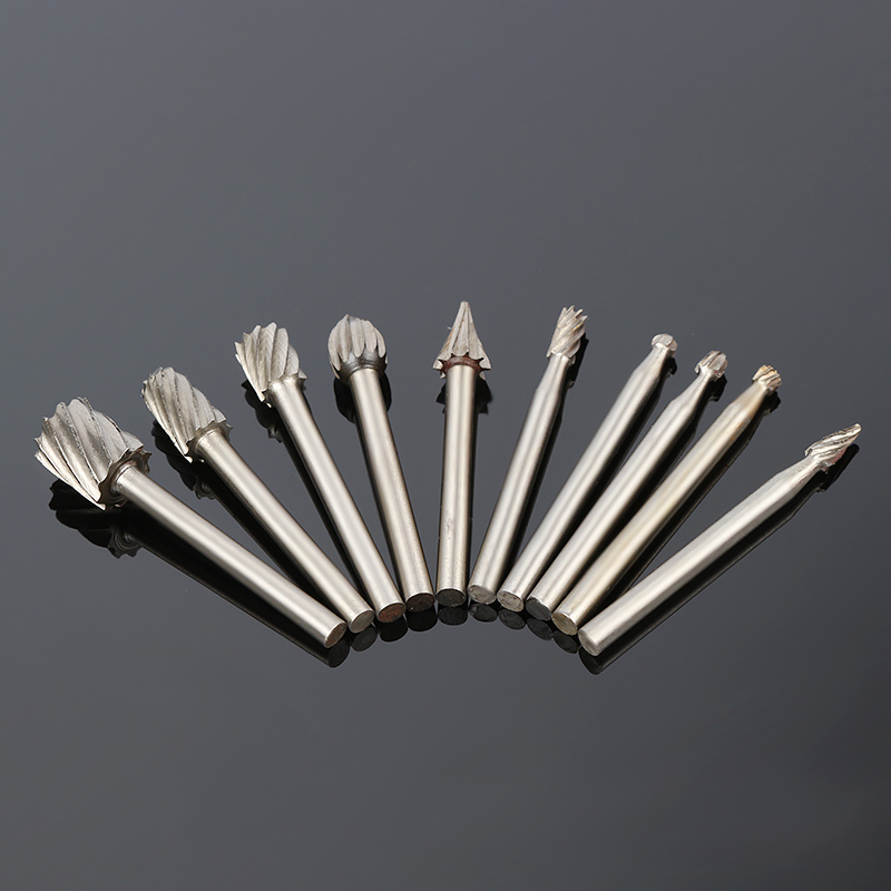10pcs Rotating Burr Wood Carving File File Bit Wood Rotary File Woodworking Woodworking Milling Cutter Wood Engraving Flower Cut in Drill Bits from Tools
