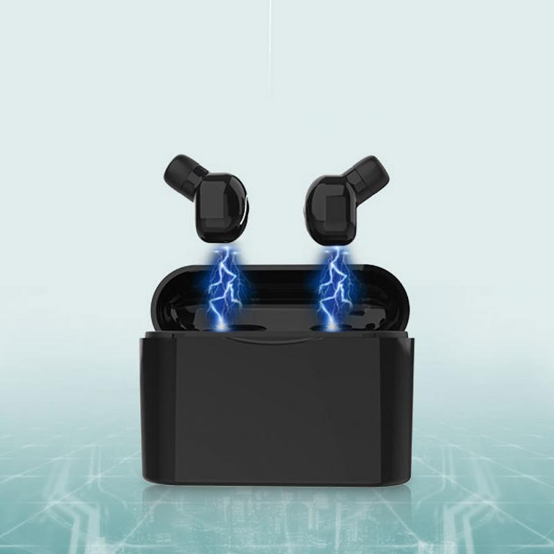 New fashion design With Charging Bin Portable Home Mini Bluetooth Earphone Wireless Volume Control