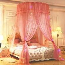 Moustiquaire à trois portes pour enfants, literie d'été pour bébés filles, lit rond, couverture de lit, auvent pour crèche