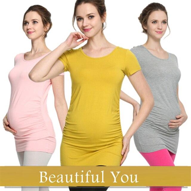 61801ea37b5 Maternity Nursing Tops Summer Mother T shirts Women Breastfeeding Tees Ropa  maternal Cotton Hamile giyim Pregnant Women 70Z1035