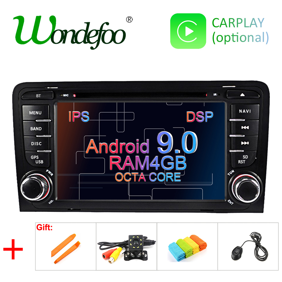 Wondefoo IPS DSP 4G Android 9.0 CAR DVD GPS For Audi A3 8P 2003-2012 S3 2006-2012 RS3