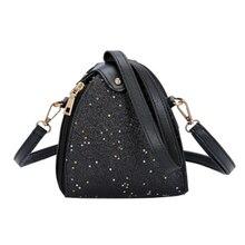2018 Women Handbags Mini PU Bling Shoulder Bag Female Small box Bag Brief  Square Women Messenger Bags glitter crossbody bags 614c36dc8105