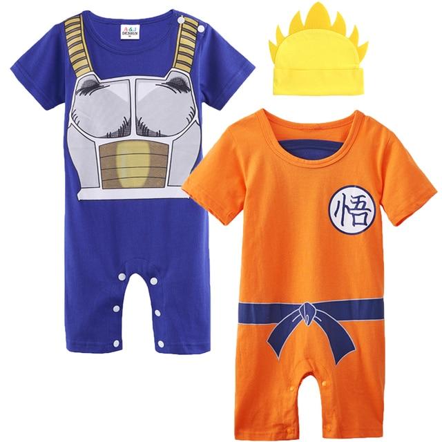 1665417701cc Baby Boy Romper Dragon Ball Z Costume Vegeta Goku Infant 2PCS ...