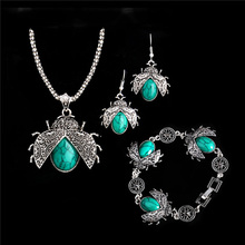 H: hyde Nueva joyería conjuntos mariquita parure cuelga pandent collar/Pendientes/pulsera bijoux Femme conjuntos de joyeria