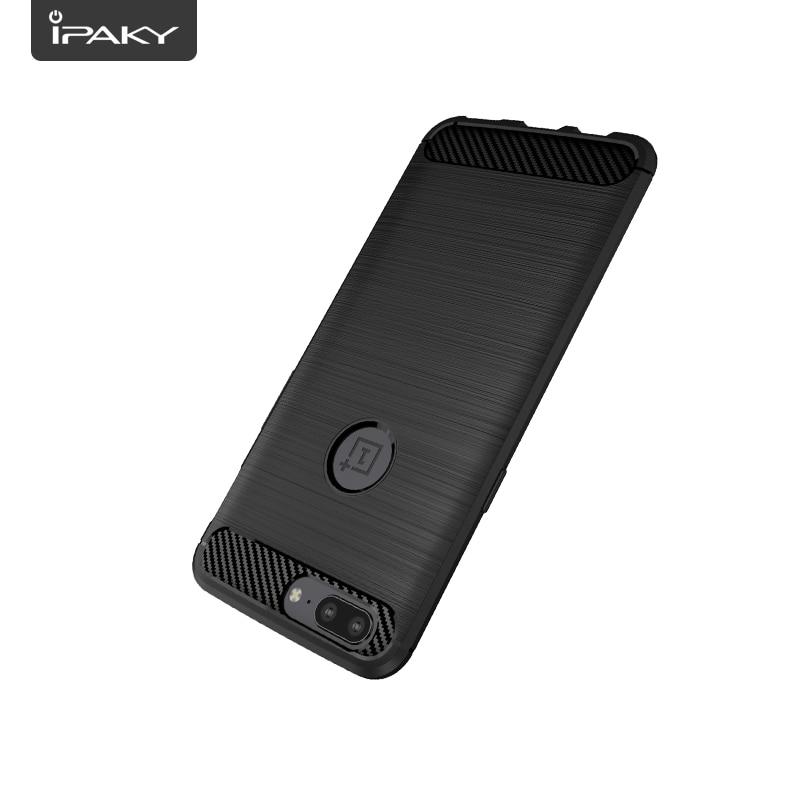 για OnePlus 5 Case Original IPAKY Silicone Carbon Fiber Hybrid - Ανταλλακτικά και αξεσουάρ κινητών τηλεφώνων - Φωτογραφία 4
