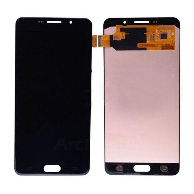 100% pixel no muertos para samsung galaxy a7 2016 a710 a7100 a710m a710f pantalla lcd con pantalla táctil digitalizador asamblea