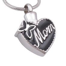 """Mom In Heart"" Memorial Pendant"