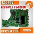 X556UV материнская плата REV: 3 1/3 0 i5-6200U GT920M 2 ГБ для For Asus X556U X556UR материнская плата для ноутбука X556UV материнская плата X556UV материнская плата
