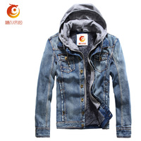 Motorcycle Jeans Jacket Men New Men S Denim Jacket Brand Autumn Winter Fashion Multicolor Hood Fleece