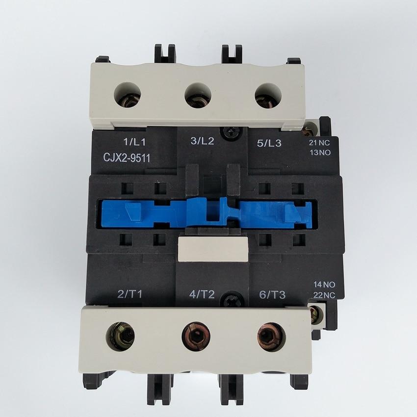 Original CHINT CJX2-9511 AC Contactor 1NO+1NC 95A Coil Voltage 380V 220V 110V 36V 24V LC1-D95 AC Contactor chint coil voltage 220v 380v 110v ac contactor 65a cjx2 6511 lc1 cjx4