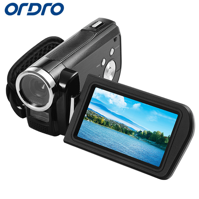 Ordro 3.0 inch HDV-Z3 Rotation Screen 1080P Full HD Reflex Digital Cameras Professional Video Recorder 24MP CMOS Photo Camera