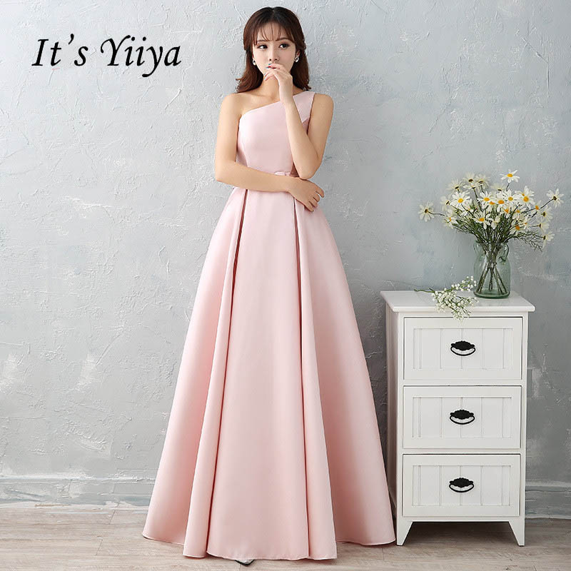 It's YiiYa Elegant O-Neck Sleeveless Dinner Party Formal   Dresses   Simple Floor-Length   Evening     Dress   LX190