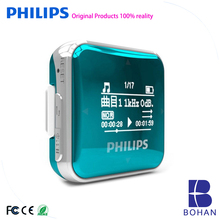 Philips Music MP3 Player 8GB Sports Clip Mini Lossless Fullsound Walkie estéreo con pantalla FM Radio / Grabación