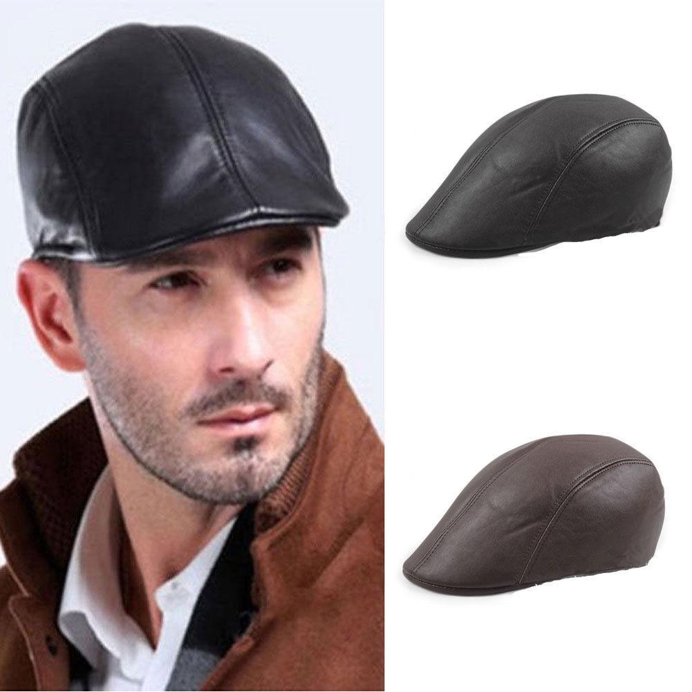 1 шт. ретро мужская кожаная плоская кепка из плюща женская шляпа газетчика Гэтсби
