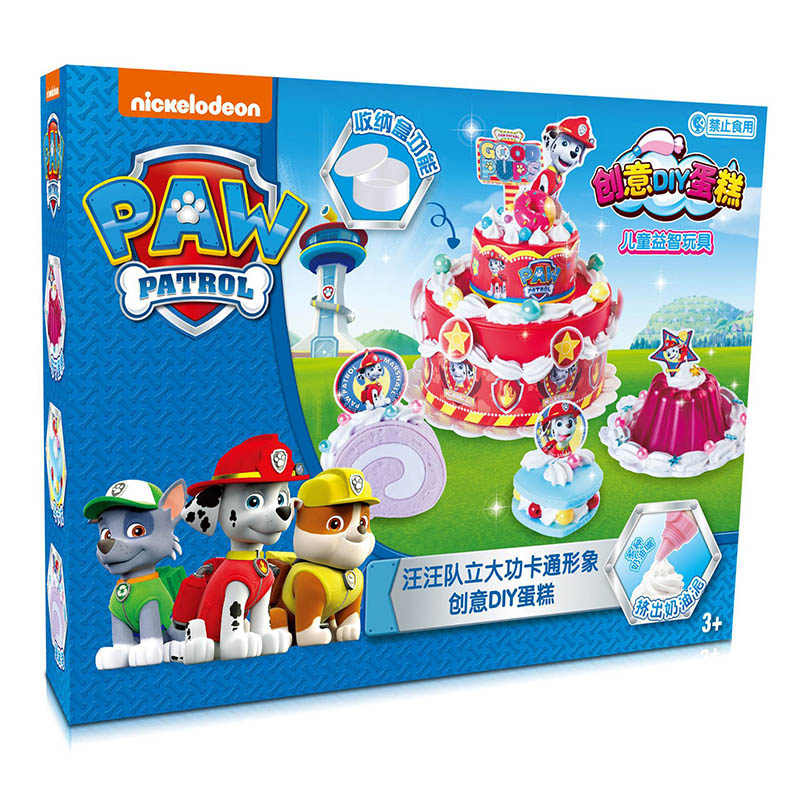 Paw Patrol Plasticine Creative DIY Cake Every Day Zhuzhu Road Ma Aqi Xiaoli Mao Mao Gray Ryder Safe And Non-toxic Birthday Gift