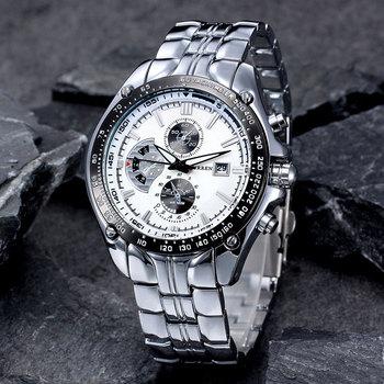 Fashion Casual Brand CURREN Sports Quartz Men's Wrist Watch Big Dial Waterproof Steel Relogio Masculino Male Clock - discount item  44% OFF Men's Watches