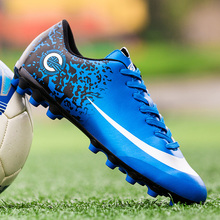 ZHENZU Brand Men Soccer Shoes Breathable High Quality AG Football Boots chaussure de foot Lightweight Training Sports Sneakers
