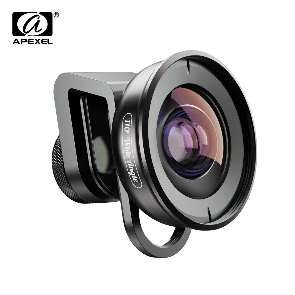 APEXEL Lente HD Câmera Do Telefone kit 110 graus 4K Wide angle lens CPL starfilter para iPhonex Samsung s9 todos smartphone gota-transporte
