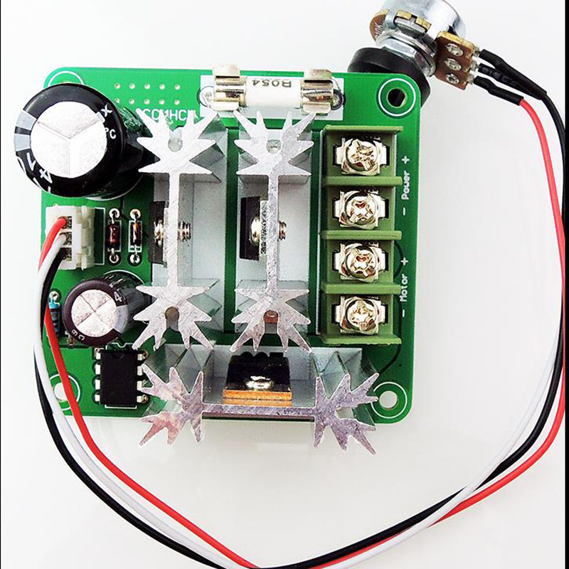 DC motor controller, stepless speed control 6V-90V, universal pwm PLC 15A