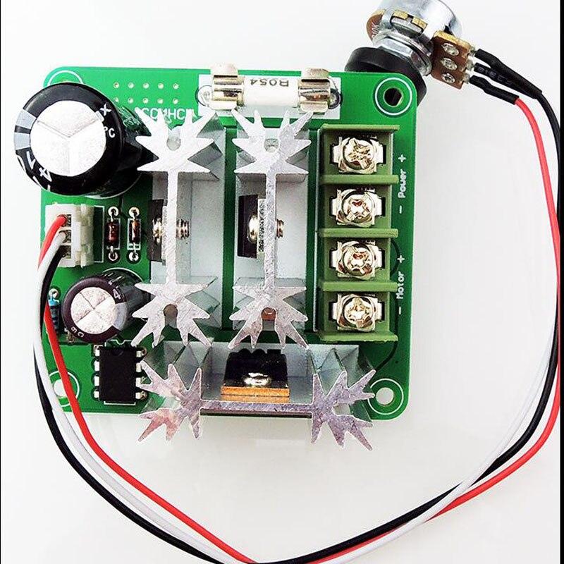 DC motor controller, stepless speed control 6V-90V, universal pwm DC motor speed controller, PLC 15A