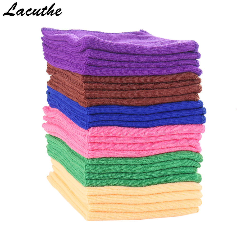 5pcs 30X30cm Microfibre Cleaning Auto Soft Cloth Washing Cloth Towel Duster Soft Absorbent Wash Cloth Car Auto Care