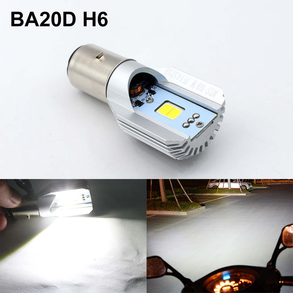 SO.K  LED Headlight H6 Bulbs 8W 1050LM BA20D 6000K Hi Lo Beam All In One Lamp Scooter Headlights for YAMAHA motorcycle