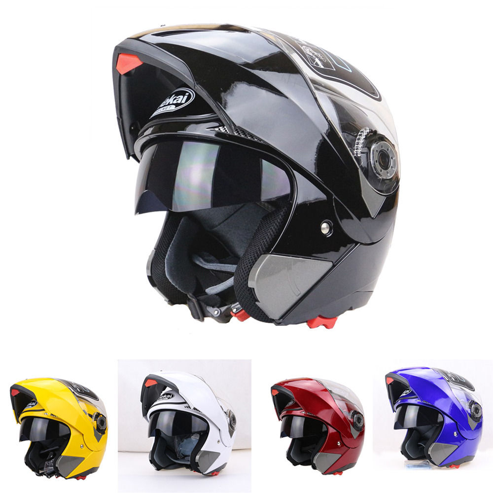 EE support New Full Face Anti fog Double Lenses Motorcycle font b Helmet b font Motos