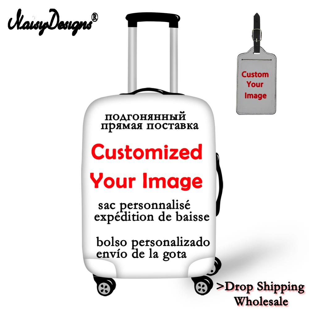 Customize Your Image Name Logo Ladies Luggage Cover Suitcase Protective Elastic Anti-dust Case Cover For Travel