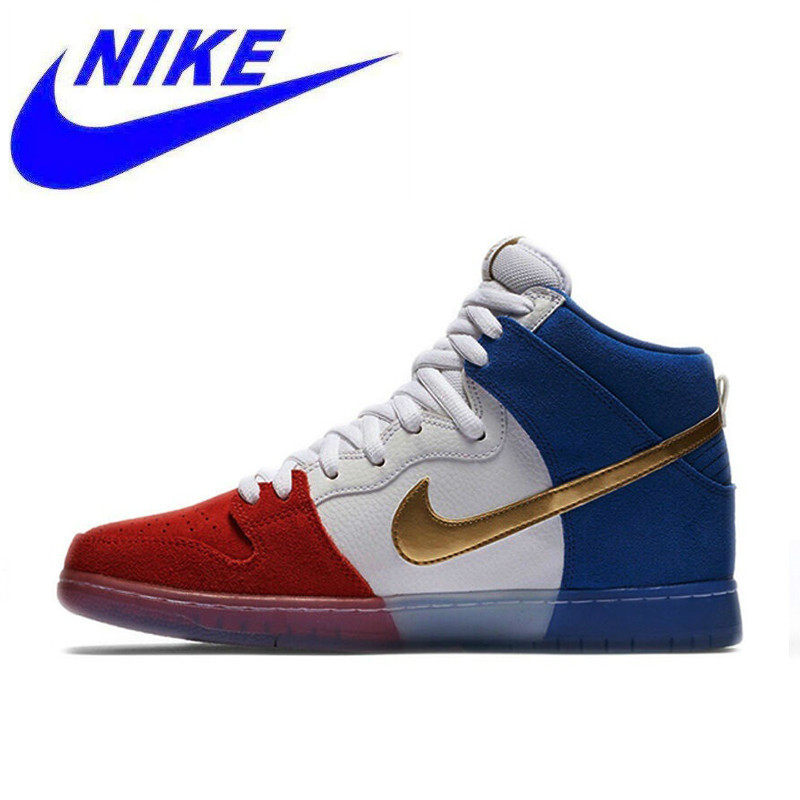 c2d9e6ecc955 Original Nike Dunk High Premium SB Men s Breathable Hard wearing  Skateboarding Shoes Sports Sneakers 313171 674-in Skateboarding from Sports    Entertainment ...
