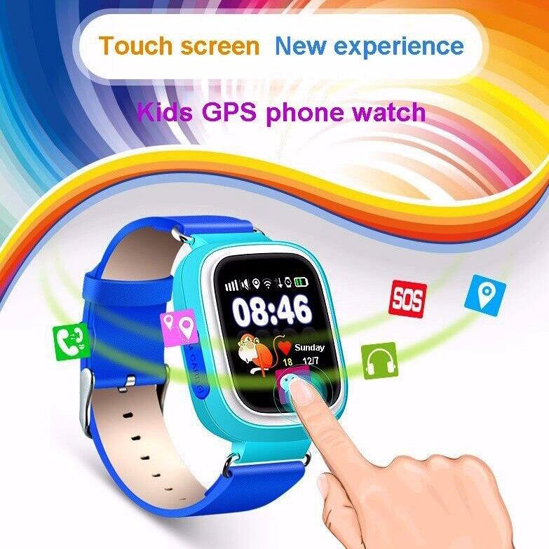 imágenes para Reloj inteligente Q90v Posición Tracker GPS WIFI Buscador Dispositivo con Pantalla Táctil Niño PKA1 DZ09 Reloj Correa de Silicona