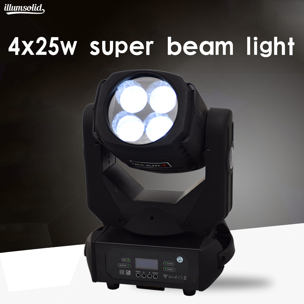 4 super beam light 4x25w moving head Stage lighting equipment dmx luces disco4 super beam light 4x25w moving head Stage lighting equipment dmx luces disco