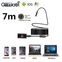 8mm HD 720P 7M 8LED WiFi Endoscope Waterproof Video Camera For Android IOS Phone PC Wireless