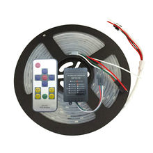 5M 30LEDs/M DC12V 10IC/M WS2811 Strip Kit Addressable Full Color 2811 LED Strip Light+ 11Keys Wireless  LED Remote Controller