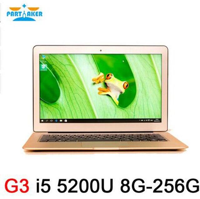 Partaker G3 Intel Dual Core 5th Gen Laptops PC I5 5200U with 8G RAM 256G SSD