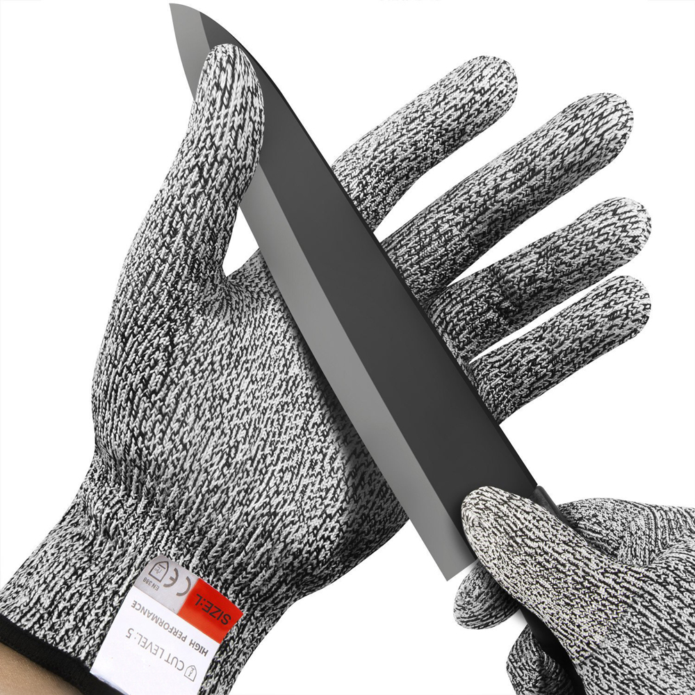 ZK30 Drop Ship Cut-Resistant Safety Gloves Anti-cut Gloves Safety Stab Resistant Stainless Steel Wire Metal Mesh Kitchen Butcher