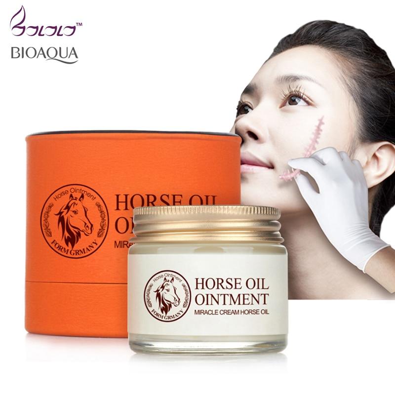 цена на bioaqua horse oil cream anti aging cream scar face body whitening cream ageless korean cosmetic skin care whitening moisturizing