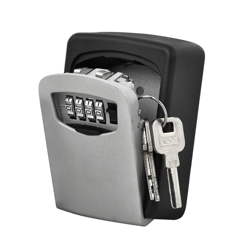 Durable 4 Digital Combination Password Wall Mount Key Storage Holder Home Office Security Equipment Lock Secret Safe Box