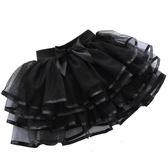 baby skirts for girls 4-10 years kids black skirt children white cotton lining lace clothes kids tulle skirt baby-clothes e023