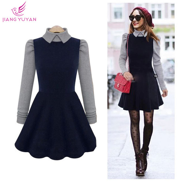 dff4130b9d Vestidos High Street Fashion Casual Dresses Women Ladies Brand Autumn  Winter Dress Woman Clothes Roupas femininas Dropshipping