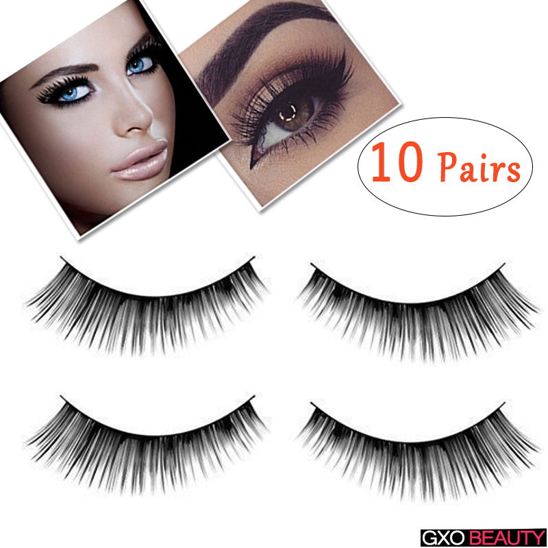 9f34eeacefd GXO BEAUTY 10 Pairs Women's Fashion Handmade Sparse Eye Lash Extension Soft Makeup  False Cute Eyelashes Hot Sale