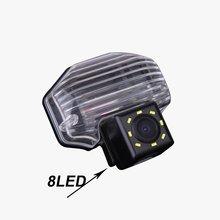 CCD auto posteriore vista posteriore retromarcia telecamera di parcheggio per Toyota wish Corolla Tarago Previa Alphard HD luce targa LED impermeabile