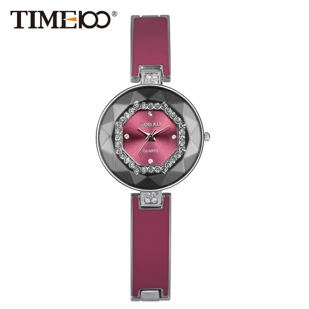 Prix pour 2016 Time100 Femmes Montres Bracelet En Acier Inoxydable De Coupe Diamant Miroir Cristal Cadran Dames Qaurtz Montre Pour Femmes Élégance