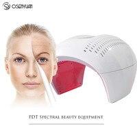 Novo profissional pdt photon luz led máquina máscara facial 4 cores tratamento acne rosto clareamento rejuvenescimento da pele terapia de luz