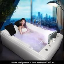 SR5D026 Двойная ванна Бытовая термостатическая нагревательная серфинговая массажная ванна умная акриловая ванна+ Водонепроницаемая wifi tv 110 В/220 В