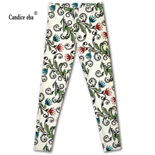Hot sales new sexy digital printing floral women leggings fashion pant capris soft fitness plus size drop shipping plus size floral leggings