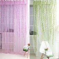 New arrival Sheers curtains Willow cortinas curtains for Bedroom Kitchen leaf Tulles 3d Window Sheer Curtains for Living Room