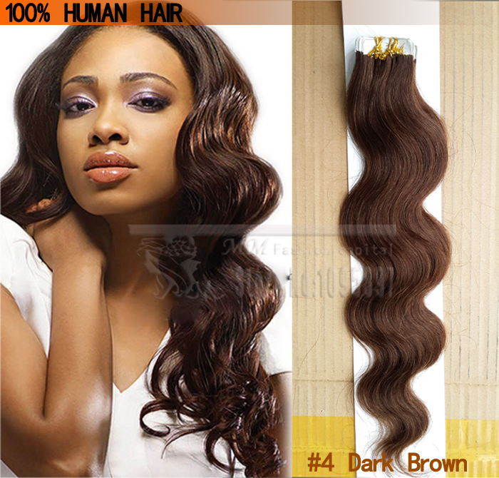 Tape Hair Extensions Wavy Body Wave Skin Weft Hair Double Sided