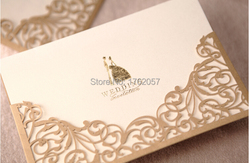 Gold red wedding invitation with blank paper inside wedding invitations card 25pcs.jpg 250x250