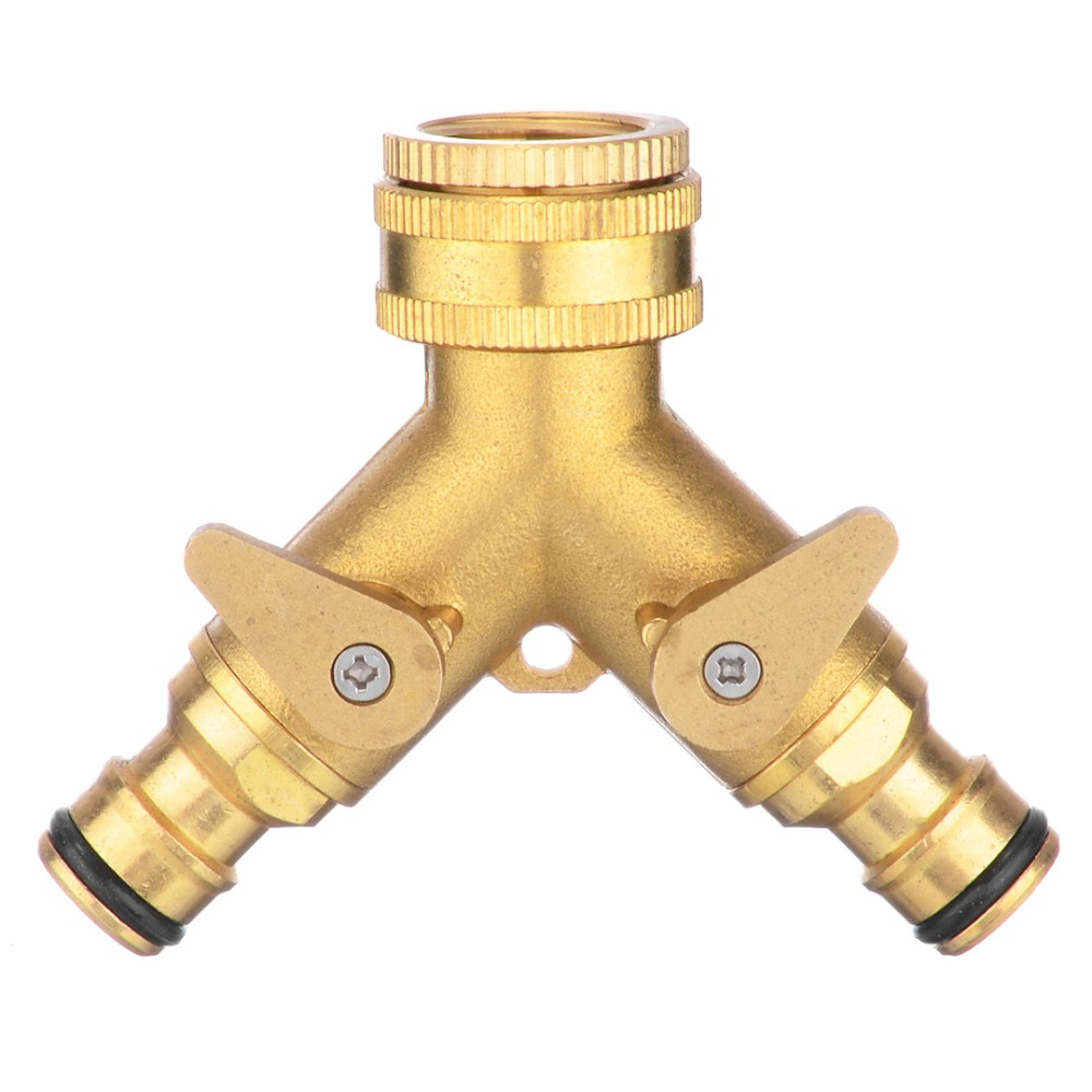 10 Type 16mm Threaded Brass Garden Hose Tap Connector Garden Water Pipe Quick Connectors for Watering Irrigation System